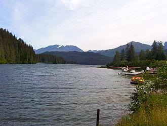 Bear Lake (Alaska) - Boat launch and floatplane dock on Old Sawmill Road