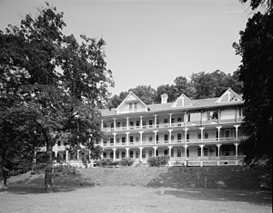 National Register of Historic Places listings in Bedford County, Pennsylvania - Image: Bedford Springs Hotel HABS 1