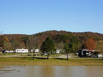 Beech Fork State Park - Camping at the lake is a popular recreational activity, even in the Fall