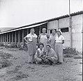 Beit Zera 1950 in the early 50s Kibbutz women in front of the poultry farm.jpg