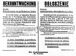 Bekanntmachung General Government Poland 1942
