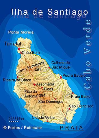 Santiago, Cape Verde - Image: Bela vista net Santiago map