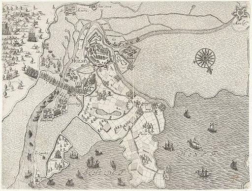Beleg van Hulst door aartshertog Albrecht, 1596, RP-P-OB-80.188