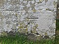 Bench mark on the church - geograph.org.uk - 1651700.jpg