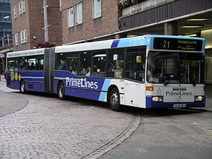 National Express Coventry - PrimeLines liveried Mercedes-Benz O405G in Coventry in September 2007