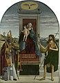 Benedetto Carpaccio - Marija na prestolu z otrokom med sv. Nikolajem in Janezom 2.jpg