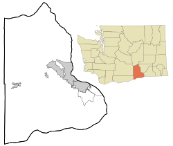 Hanford, Washington is located in Benton County, Washington