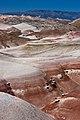 Bentonite Hills, Boulder Mtn in back (3723678642).jpg