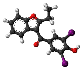Benziodarone - Image: Benziodarone 3D ball