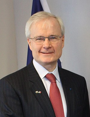 Honour medal of Foreign Affairs - French diplomat Bernard Emié, a recipient of the Honour medal of Foreign Affairs for service to civil servants