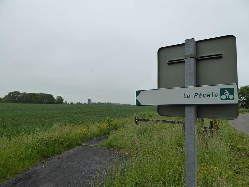 La campagne du Pévèle à  Bersée Nord Nord-Pas-de-Calais-Picardie France.