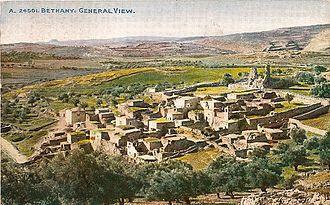 """Al-Eizariya - Postcard depicting """"Bethany"""", c. 1900"""