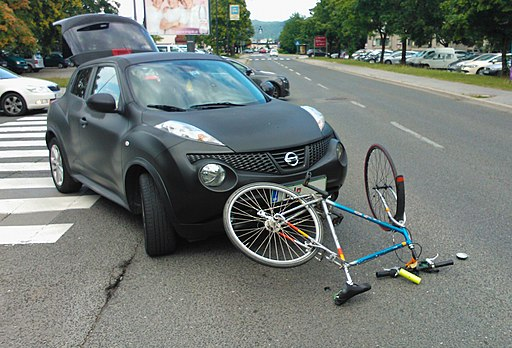 Bicycle-car accident