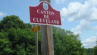 Cleveland, Quebec - Image: Bienvenue au Canton de Cleveland