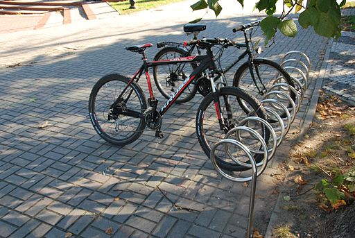 Bike rack in Opole