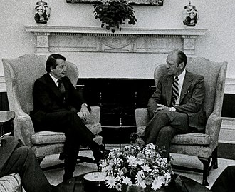 Bill Rowling - Rowling with US President Gerald Ford in 1975.