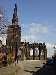 Exterior of Birkenhead Priory
