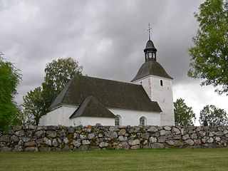 Biskopskulla Church church building in Enköping Municipality, Sweden