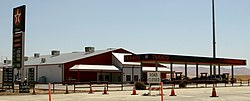 The Texaco gas station at the SR 46 and SR 33 intersection marks the location of Blackwells Corner
