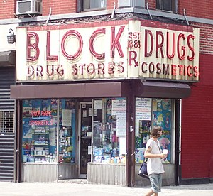 Block Drug - A pharmacy in the East Village neighborhood of Manhattan, New York City (2012)