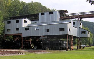 Blue Heron, Kentucky - Coal tipple at Blue Heron