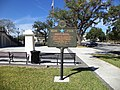 Blue Star Memorial Highway Marker in front of Thomas County Courthouse.JPG