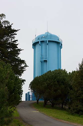John McLaren Park - Image: Blue water tower (2276712148)