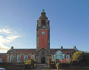 Liverpool Blue Coat School - Clock tower