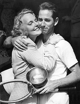 Bobby Riggs - Riggs with first wife, Kay Fischer, in 1946