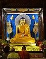 Bodhgaya, Bihar. Buddha image in the main temple.jpg