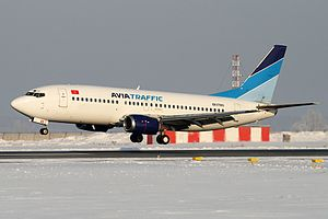 Avia Traffic Company Flight 768 - EX-37005, the aircraft involved