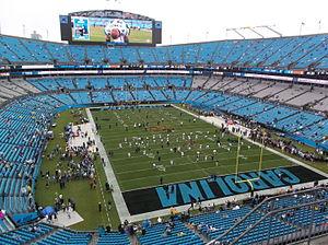 Bank of America Stadium - The stadium before a 2015 game