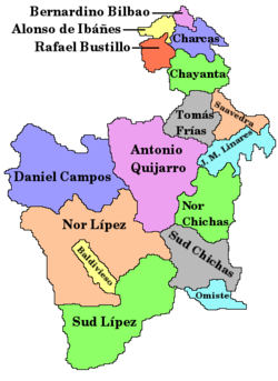 Provinces of the Potosí Department