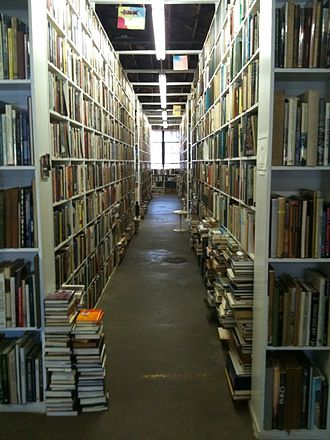 Larry McMurtry - Just one of the dozens of aisles of books at Booked Up in Archer City