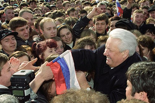 Boris Yeltsin 4 April 1996