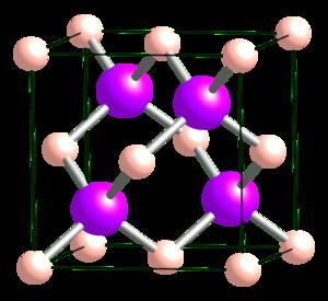 Boron arsenide - Image: Boron arsenide unit cell 1963 CM 3D balls
