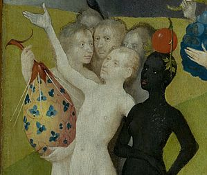 Bosch, Hieronymus - The Garden of Earthly Delights, central panel - Detail fictional fruit (lower left).jpg