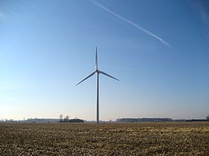 Bowling Green, Ohio - A wind turbine outside of Bowling Green, Ohio.