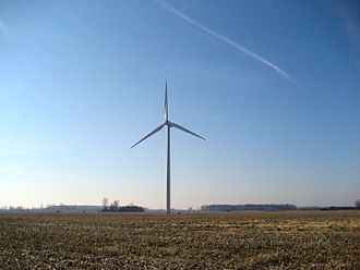 Toledo metropolitan area - This Wind Turbine in Bowling Green is one of the many wind turbines in rural Northwest Ohio areas.