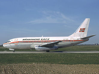 Braathens SAFE Flight 139 - The hijacked aircraft in 1982