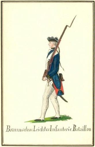 Brunswick Troops in the American Revolutionary War - Light Infantry Battalion von Barner, Light Companies