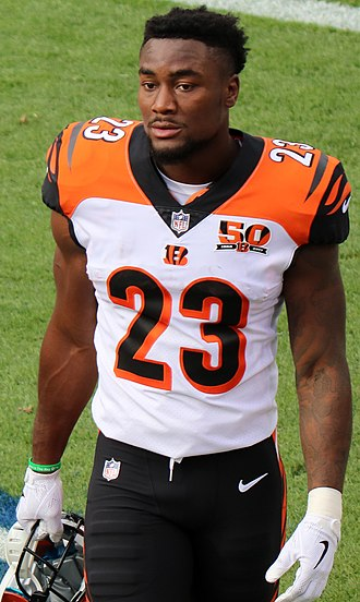 Brian Hill (American football) - Hill with the Bengals in 2017.