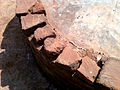 Bricks on a votive stupa at Bavikonda.jpg