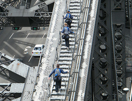 BridgeClimb participants, wearing the mandatory special jumpsuits Bridgeclimbparticipants.jpg