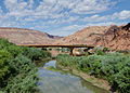 Bridge of US 191 crossing Colorado river near Moab, East view 20110816 2.jpg