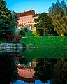 Bridge reflection on pond oustide of Toompea Castle (21397872805).jpg