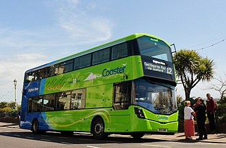 Wright StreetDeck - Brighton & Hove Wright StreetDeck in Eastbourne in May 2015