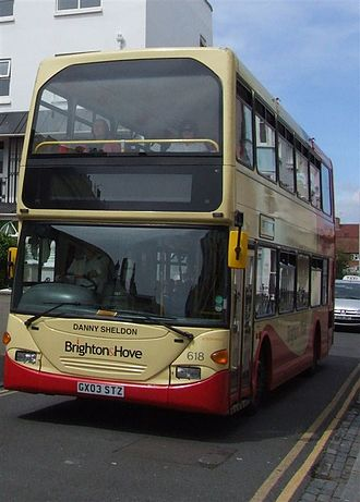 Brighton & Hove (bus company) - Scania OmniDekka in June 2007