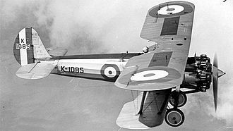 No. 17 Squadron RAF - A Bristol Bulldog, similar to what No. 17 Squadron operated from 1929 to 1936.
