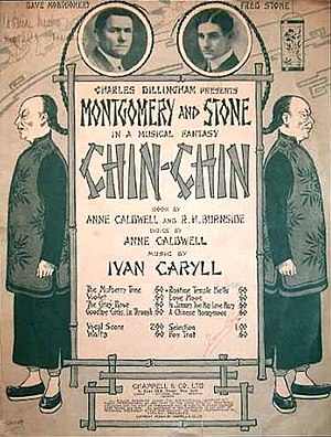 Fred Stone - Poster art for Broadway show Chin-Chin (1914)